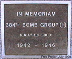 384th BG Memorial Tablet