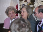 Jeanie Guilmet, Linda and Vic Fayers-Hallin in St James for services.JPG
