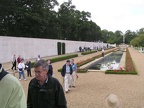 The reflecting pool and wall at Madingly.JPG
