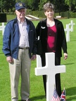 Gene Goodrick and his daughter Christy honored 1Lt Thomas G. Pfiffner, 384th BG.JPG