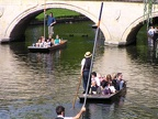 Punting on the River Cam.  The city of Cambridge got its name from the bridges on the River Cam.JPG