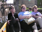 Christy, Isabelle and Carol in our boat on the River Cam.  What a gorgeous day it was.JPG