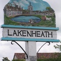 Lakenheath village sign.  Most villages and towns had signs like this that indicated the flavor of the area.JPG