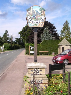The village sign for Eriswell, which is located very near the south gate to RAF Lakenheath.JPG