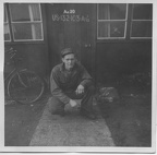 Arnold Watterson in front of barracks No. 20.jpg