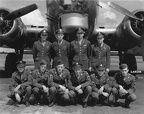 Cole Crew, 546th BS, in front of unidentified B-17G