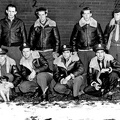 Howard Cole with crew & dog