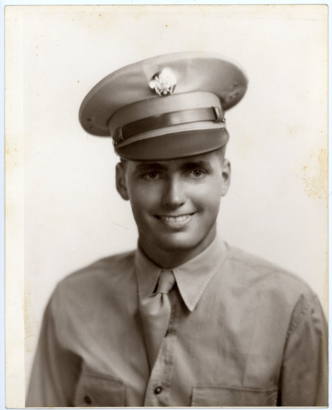 Howard W. Cole, as an enlisted man
