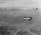 384th and B-24 formation