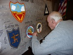 Billy Wiley signing the wing panel.
