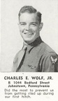 Charles E Wolf, Bombardier