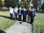 Six Veterans at the 384th Plaque