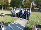 Nine Veterans at the 384th Plaque