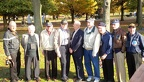 384th Veterans at the 384th Memorial Plaque