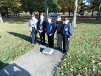 Five Veterans at the 384th plaque.