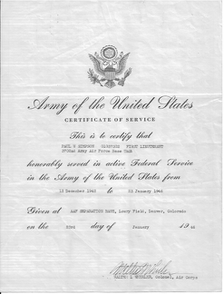 Certificate of Service, Page 1 of 2