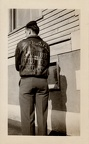 Russ Reams, Devil's Brat flight jacket, back, 31 Missions