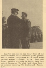 Morgan Francis Hickey receiving the French Croix De Guerre in early May, 1945.