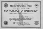 Certificate of Embarkation - S/S John W. Johnson