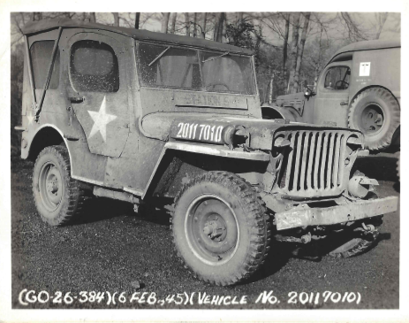 Wrecked Jeep, 6 February 1945