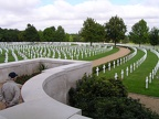 Madingly American cemetery at Cambridge. some 30 384th heroes are buried here and we honored them this day.JPG