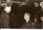 Lt Siguard Thompson receiving the air medal from COL Smith