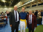 Fred Preller, Cadet First Class Matt Ward, and Len Estrin