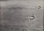 384th IN FLIGHT & B-24s