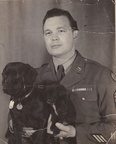 USAAF T/Sgt with Dogs